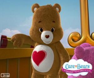 Puzle Tenderheart medvěda, malý medvěd se srdcem po břiše