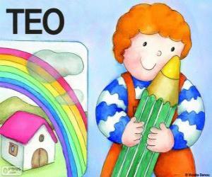 Puzle Teo a barvy