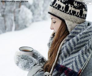Puzle Teplý nápoj na nachlazení
