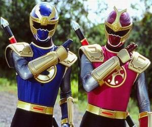 Puzle Thunder Ranger jsou duo Crimson a Navy