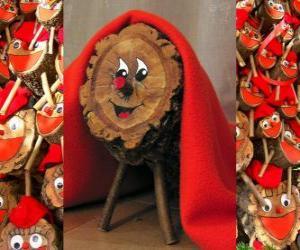 Puzle Tió de Nadal (Vánoce kmen), Katalánština, Occitan a Alto Aragon tradice
