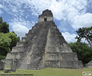 Puzle Tikal chrám I., Guatemala