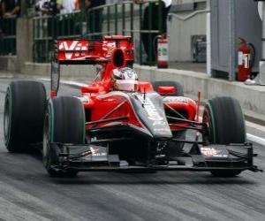 Puzle Timo Glock - Virgin - 2010 maďarské Grand Prix