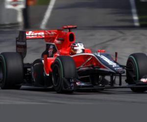 Puzle Timo Glock - Virgin - Monza 2010