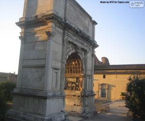 Puzle Titův oblouk, Řím