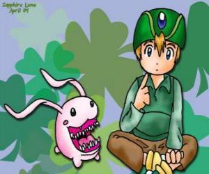 Puzle TK a jeho Digimon Tokomon, Takeru Takaishi je nejmladší ze skupiny a mladší bratr Matt