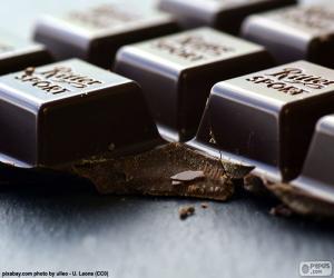 Puzle Tmavý čokoládový Tablet