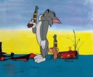Puzle Tom a Jerry v duelu