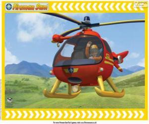 Puzle Tom Thomas s jeho Wallaby One vrtulník