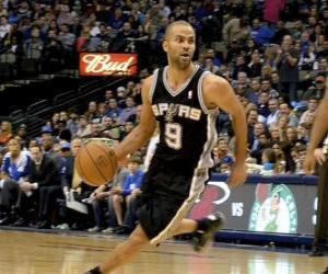 Puzle Tony Parker hraje basketbal
