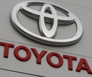Puzle Toyota logo. Japonský výrobce automobilů