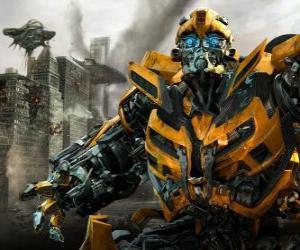 Puzle Transformer chůze po celém městě