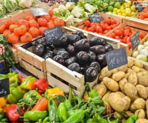 Puzle Trh se zeleninou