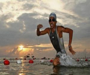 Puzle Triatlonista na plavání