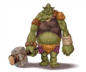 Puzle Troll obří vyzbrojený klubem