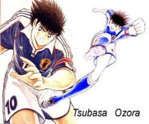 Puzle Tsubasa Ozora je kapitán Tsubasa, kapitán japonské fotbalové reprezentace
