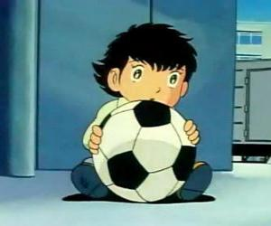 Puzle Tsubasa Ozora, Oliver Hutton, japonské dítě, které je velkým fanouškem fotbalu