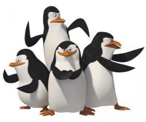 Puzle Tučňáci, Skipper, Kowalski, Rico a soukromé.