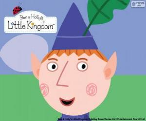 Puzle Tvář Ben Elf a trojúhelníkové klobouk s dubový list