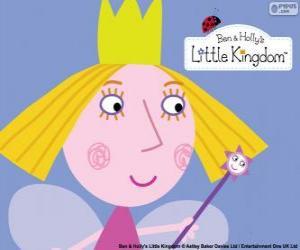 Puzle Tvář malou vílu, princeznu Holly s její koruny