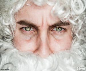 Puzle Tvář Santa Claus