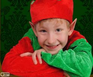 Puzle Tvář vánoční Elf