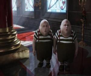 Puzle Tweedledee a Tweedledum nebo Tarari a Tarara baculaté dvojčata, která jsou vždy bojovat mezi sebou
