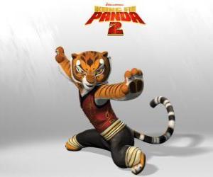 Puzle Tygřice je nejsilnější a nejstatečnější z mistrů Kung Fu.
