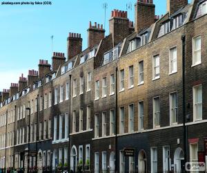 Puzle Typické domy v Londýně