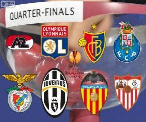 Puzle UEFA Europa League 2013-14 čtvrt finále