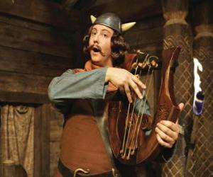 Puzle Ulme, básník, a to vždy s jeho lyra