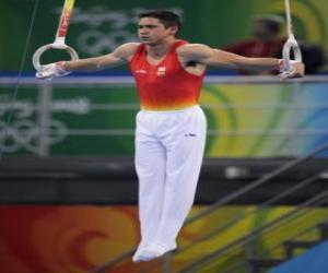 Puzle Umělecká gymnastika - Stále kroužky