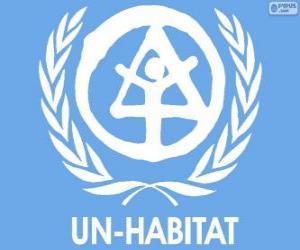 Puzle UN-HABITAT logo, Organizace spojených národů pro lidská sídla