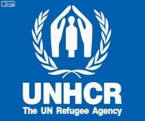 Puzle UNHCR logo, Vysokého komisaře OSN pro uprchlíky
