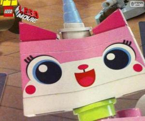 Puzle Unikitty, jednorožec kotě velké dobrodružství, lego, film