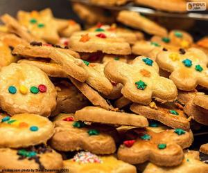 Puzle Upravené soubory cookie, Vánoce