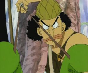 Puzle Usopp, střelec z pirátské posádky a zbraní expert