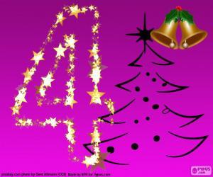 Puzle Vánoční číslo 4