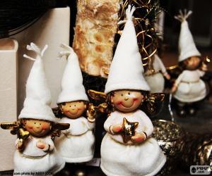 Puzle Vánoční andílků