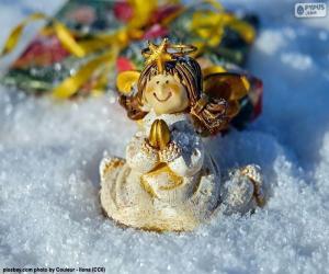 Puzle Vánoční anděl modlitby