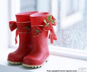 Puzle Vánoční boty
