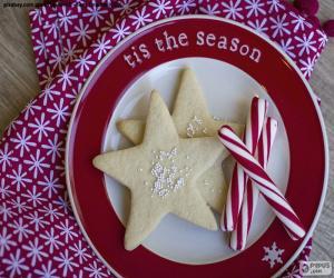 Puzle Vánoční cukroví a cukroví