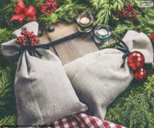 Puzle Vánoční dárkové sáčky