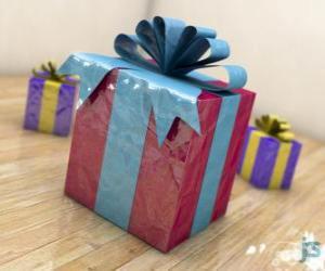 Puzle Vánoční dárky ozdobená stuhami