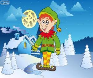 Puzle Vánoční Elf