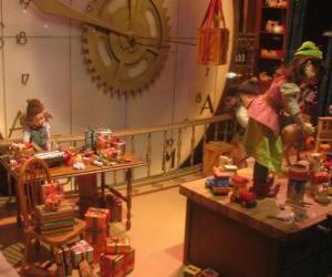 Puzle Vánoční elfové výrobu hraček pro dárky