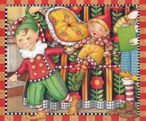 Puzle Vánoční Elfové