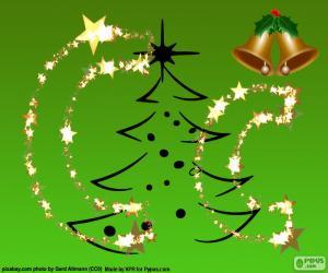 Puzle Vánoční písmeno C