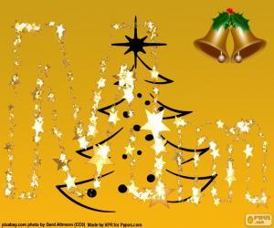 Puzle Vánoční písmeno M