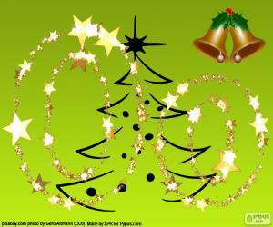 Puzle Vánoční písmeno O